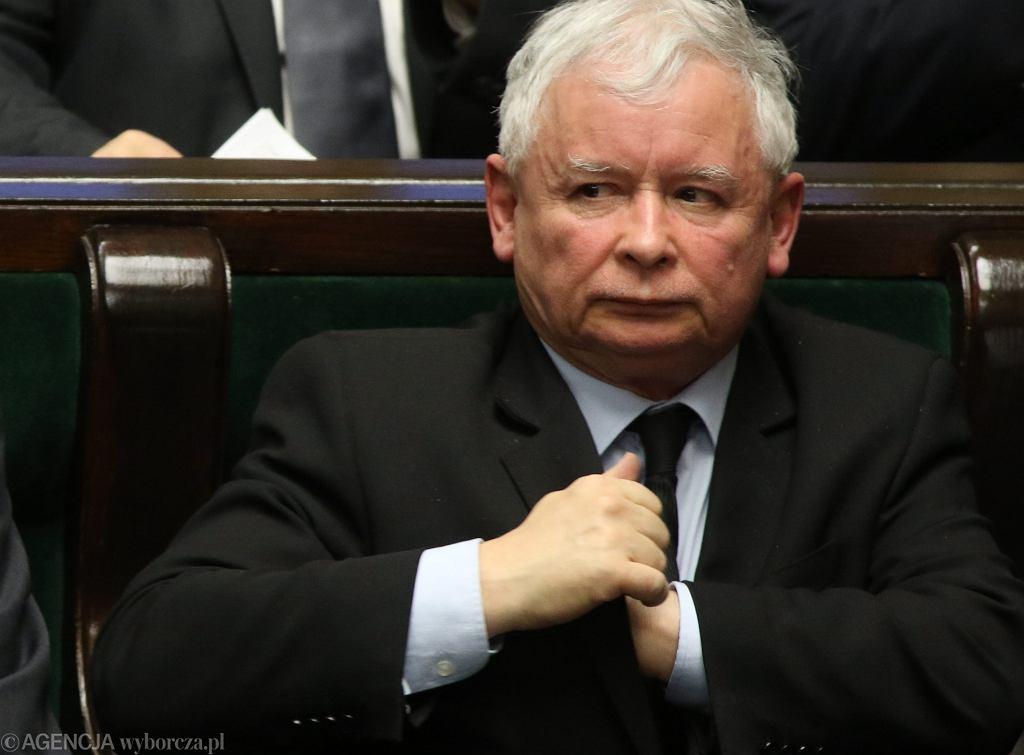 Prezes PiS Jarosław Kaczyński - 10 posiedzenie Sejmu VIII Kadencji
