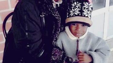 Veronique Kabamba z małym Samuelem