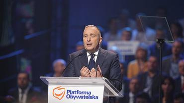 21 października 2017 r., Łódź. Grzegorz Schetyna przemawia na konwencji krajowej Platformy Obywatelskiej
