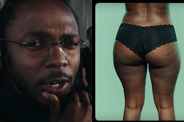 """Kendrick Lamar w najnowszym hicie """"Humble"""" rapował, że ma dość """"wyphotoshopowanego piękną"""" i chciałby zobaczyć """"coś naturalnego jak tyłek z rozstępami"""". No to się doczekał."""