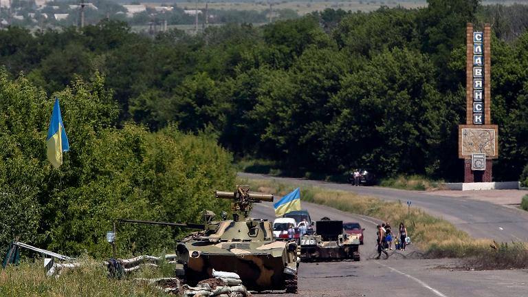 Ukraiński posterunek wojskowy