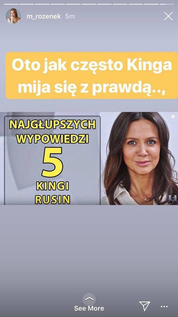 Screen z profilu Małgorzaty Rozenek