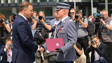 Prezydent Andrzej Duda i gen. insp. Jarosław Szymczyk