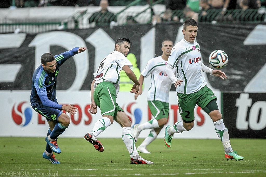 Lechia - Panathinaikos 4:0. Rafał Janicki (z prawej)