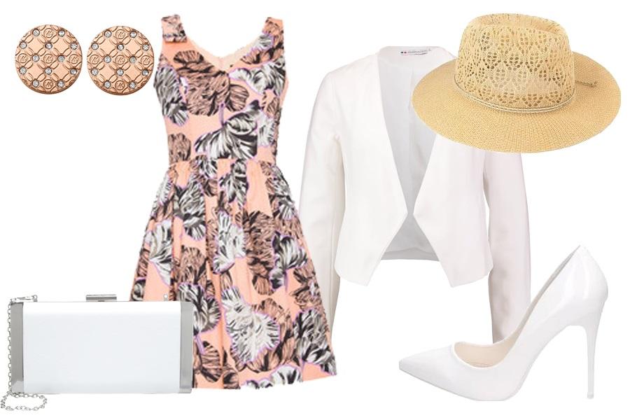 Stylizacja sukienka w kwiaty / Kolaż / Materiały partnera