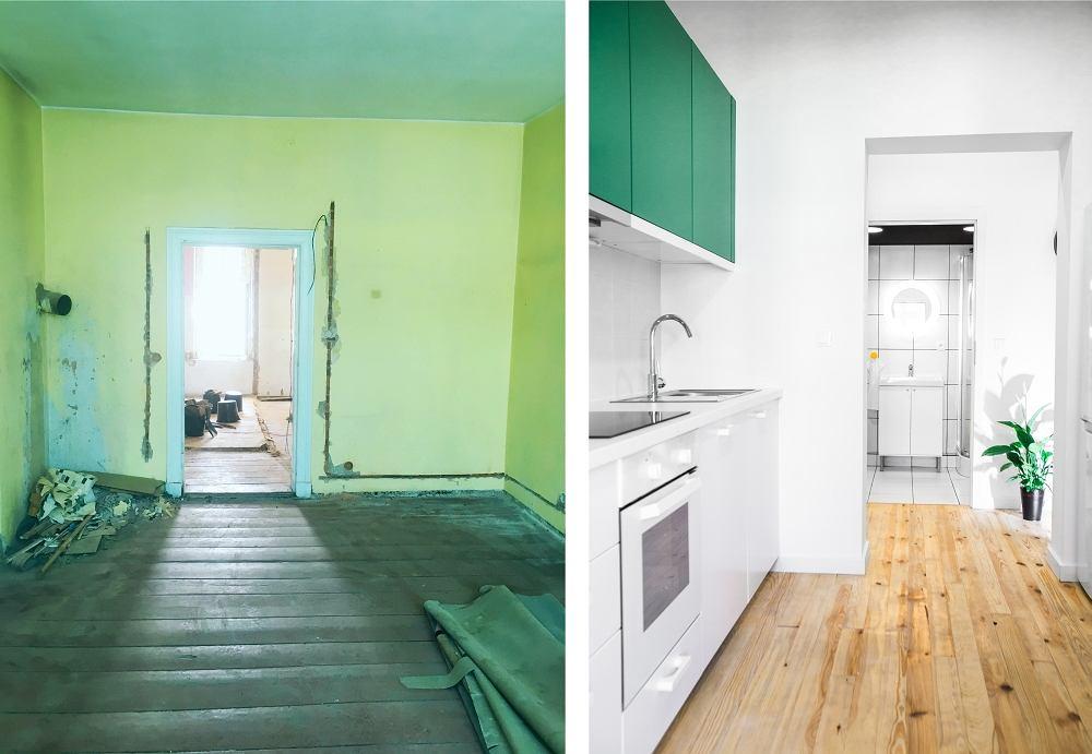 Mieszkanie przed i po