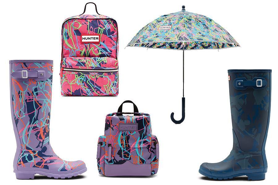 W kolekcji Hunter x Disney znajdziecie kolorowe kalosze dla kobiet i dzieci, plecaki oraz torbę w stylu Mary Poppins