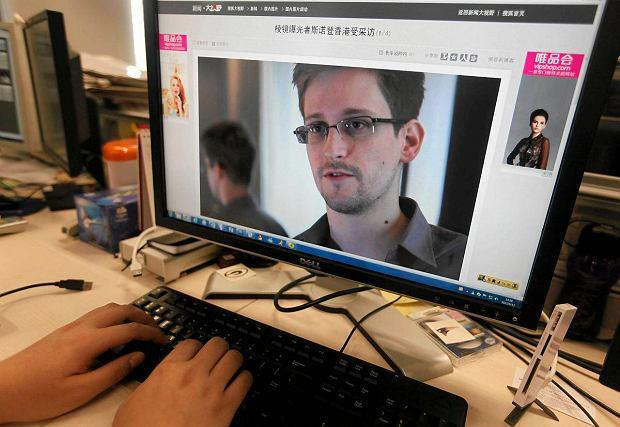 Najs�ynniejsze zdj�cie Edwarda Snowdena - screen z wywiadu dla brytyjskiego Guardiana.