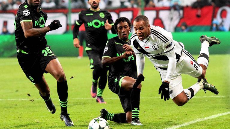 Vadis Odjidja-Ofoe podczas meczu Legia Warszawa - Sporting Lizbona w lidze Mistrzów