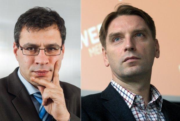 Jacek Karnowski i Tomasz Lis