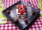 Lasagne truskawkowa z ciasta pierogowego