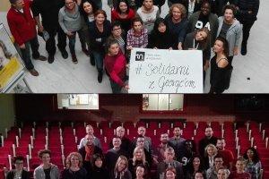 Solidarni z Georgem. Zdjęcia ze wsparciem dla pobitego w Poznaniu Syryjczyka i protest przeciw rasizmowi