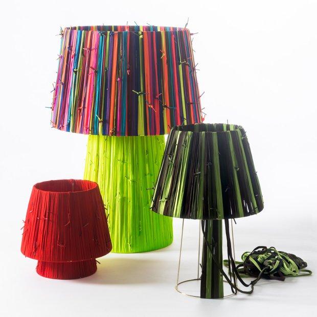 Lampy ze sznurówek