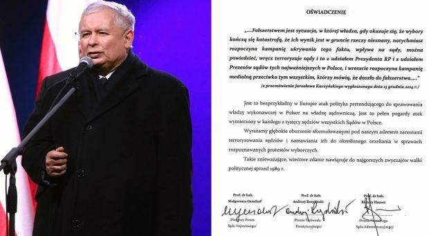 Jarosław Kaczyński/oświadczenie sędziów