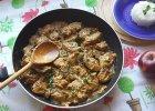 Kurczak w sosie �mietanowym z pieczarkami