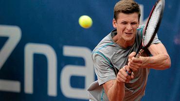 Hubert Hurkacz na turnieju tenisowym Poznań Open
