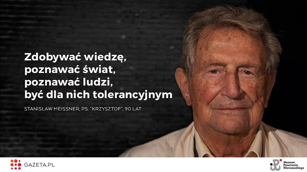 Stanisław Meissner, ps. 'Krzysztof', 90 lat