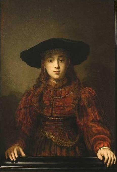 Dziewczyna w ramie obrazu - Rembrandt van Rijn (1641) / Dziewczyna w ramie obrazu - Rembrandt van Rijn (1641) Zamek Królewski w Warszawie. Fot. A. Ring, B. Tropiło