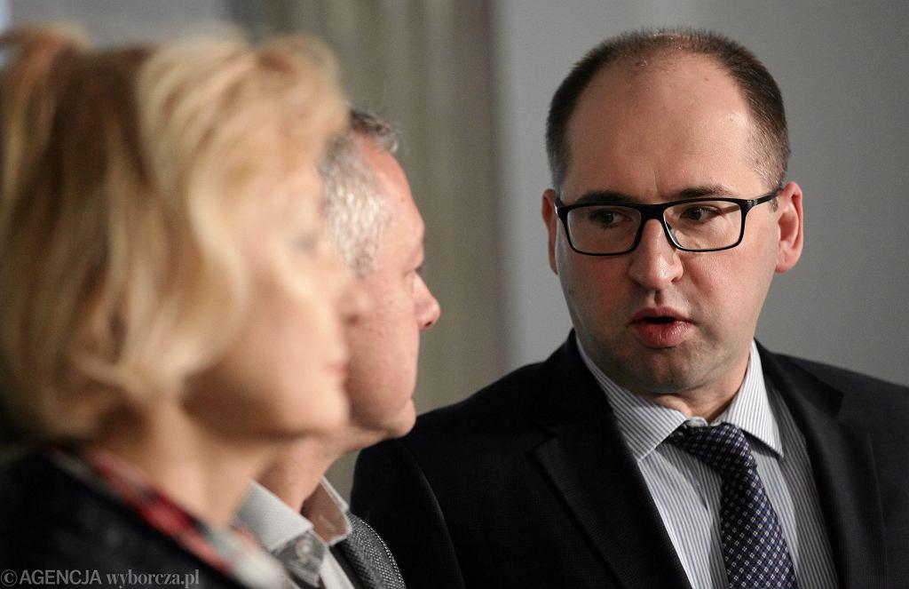 Wicemarszałek Senatu Adam Bielan podczas posiedzenia Zarządu Krajowego Polska Razem