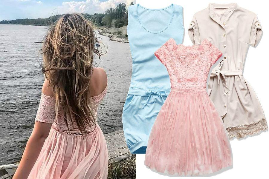 Pastelowe sukienki