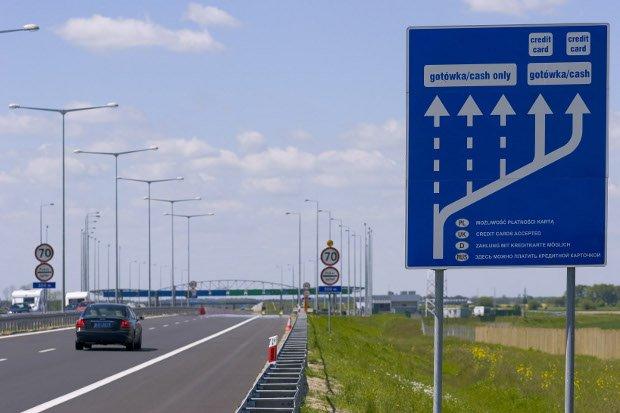 Autostrada A2. Piękna, ale i nie tania.