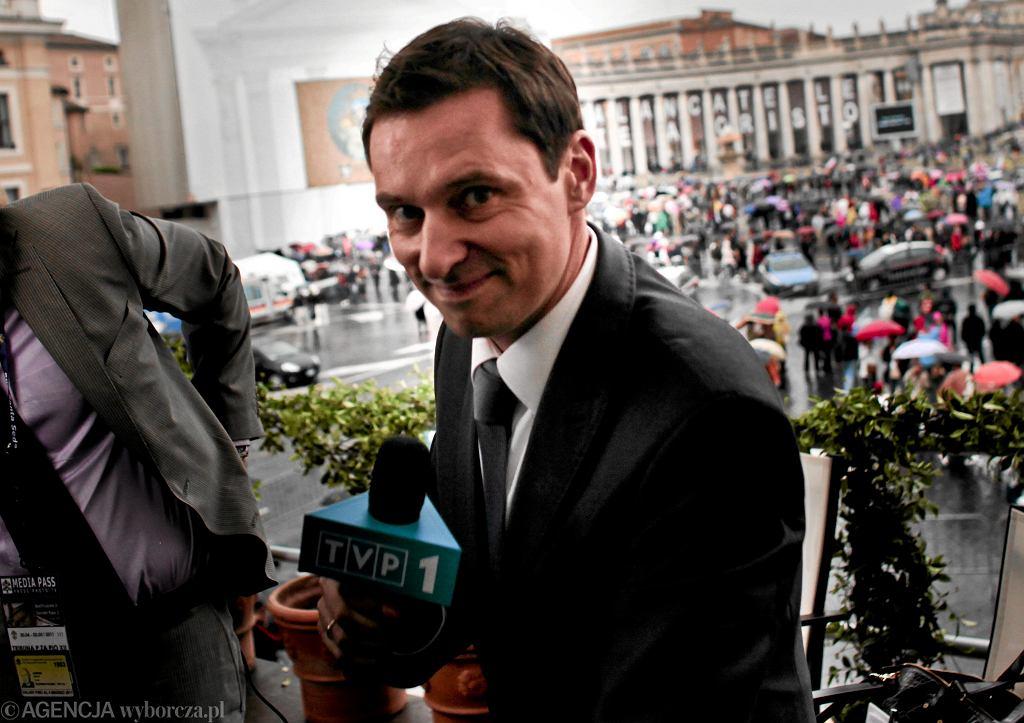 Krzysztof Ziemiec w Watykanie podczas przygotowań do uroczystości beatyfikacyjnych Jana Pawła II, Rzym 30.04.2011