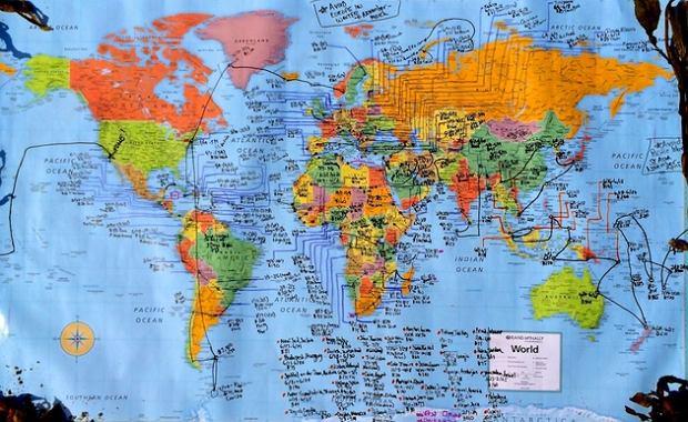 Podróżnicza mapa Cassandry de Pecol