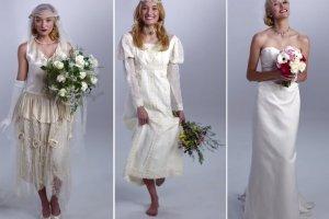 Koronki, tiule, tafta - ślubne trendy ostatnich dekad. Rozpoznasz, która suknia pochodzi z lat 20., 70., a która z lat 90.?