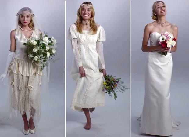 f98372faa5d68 Koronki, tiule, tafta - ślubne trendy ostatnich dekad. Rozpoznasz, która  suknia pochodzi