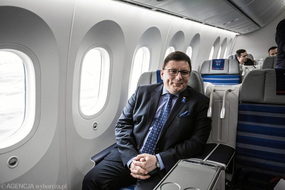 Prezes PLL LOT Rafał Milczarski: - Nie widzę w umowach b2b nic hańbiącego. Jestem z nich nawet dumny. W tradycyjnych liniach związkowcy trzymają zarządy za gardło, jak w Lufthansie, choć to nie oni są od rządzenia spółką.