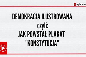 """Stał się symbolem walki o sądy, trzymały go tysiące Polaków. Jak powstał kultowy plakat """"konsTYtucJA"""""""