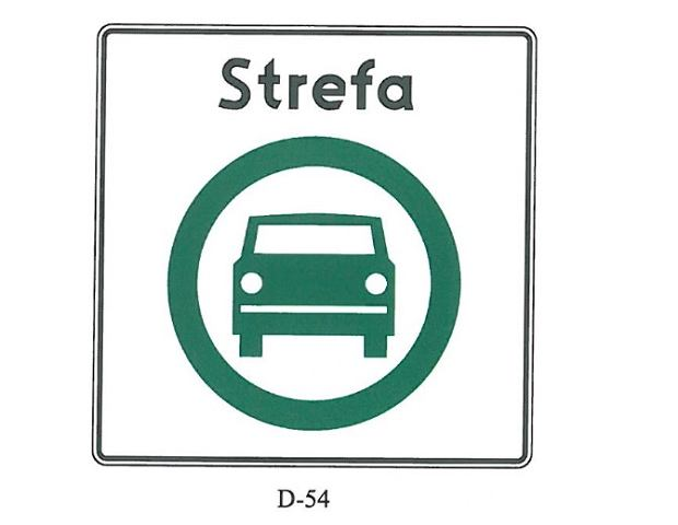Znak D-54 (projekt)