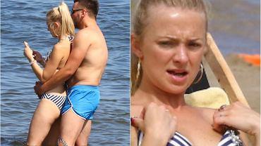Barbara Kurdej-Szatan wyjechała na wakacje nad morze. Towarzyszyli jej mąż z córką. Na plaży aktorka paradowała w bikini i nie rozstawała się ze smartfonem. Wraz z mężem robili sobie w morzu selfie.