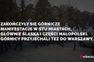 Strajkuj�cy zwi�zkowcy przywie�li do Warszawy gruszki na wierzbie i o�miorniczki