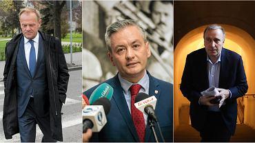 Donald Tusk, Robert Biedroń, Grzegorz Schetyna
