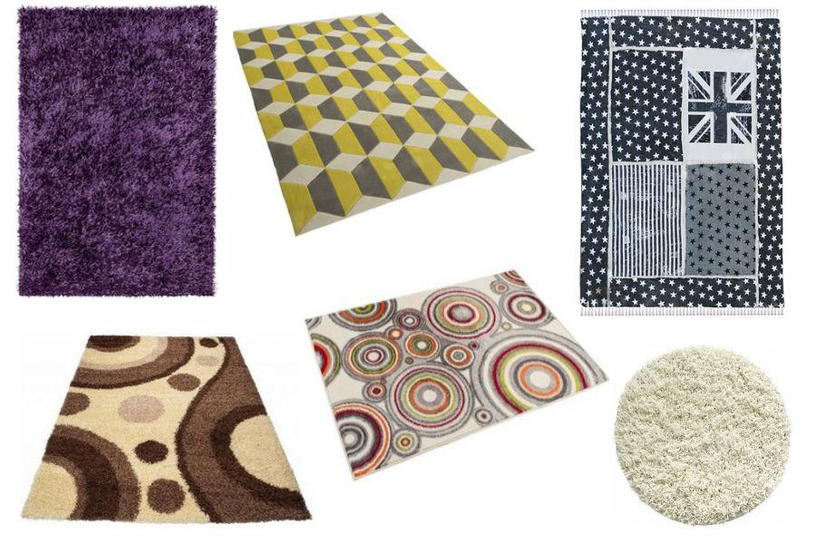 Kolorowe dywany z różnych materiałów