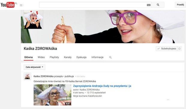 Kaśka Zdrowaśka, czyli kabaret polityczno-obyczajowy na YouTubie