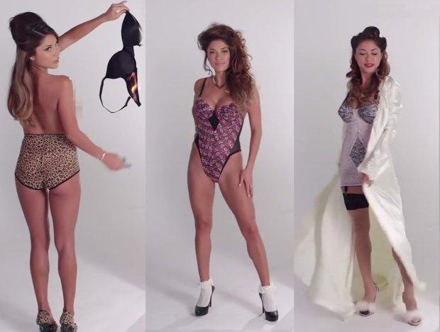"""Przegląd kobiecej bielizny. W ciągu ostatnich lat nosiłyśmy skromne halki, skąpe figi, kombinezony i oczywiście """"nieśmiertelną"""" panterkę [WIDEO]"""