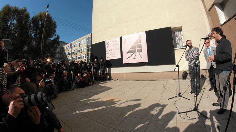 Uroczystość otwarcia najwęższego domu świata w Warszawie