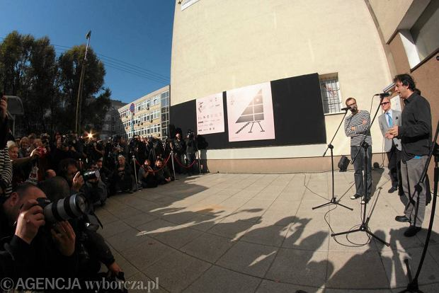 Uroczysto�� otwarcia najw�szego domu �wiata w Warszawie