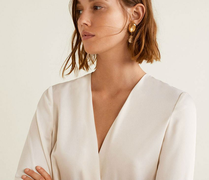 biała bluzka damska
