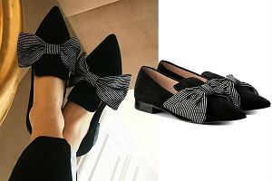 pantofle z kokardą
