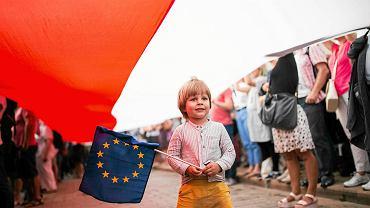 Protest w Warszawie w obronie Sądu Najwyższego