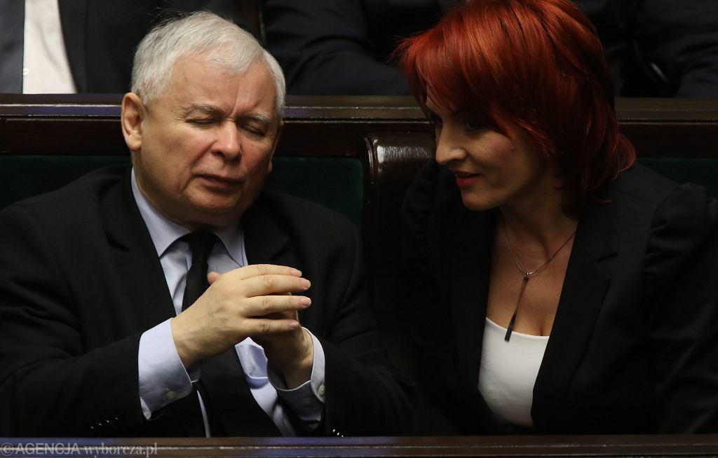 Bernadeta Krynicka i Jarosław Kaczyński