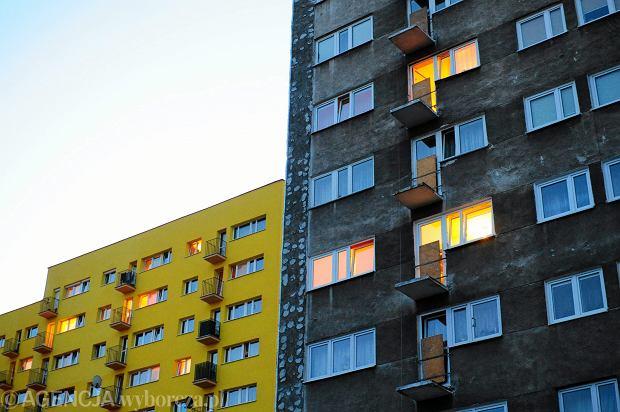 Kolorowe bloki na Rakowcu w Warszawie
