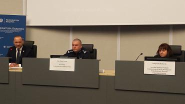 Katowice. Prokurator Małgorzata Bednarek i inspektor Kamil Bracha, komendant CBŚP (Centralnego Biura Śledczego Policji)