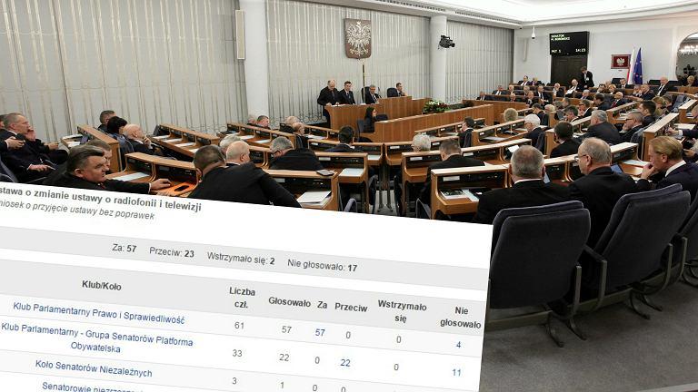 Senat przyjął ustawę medialną PiS