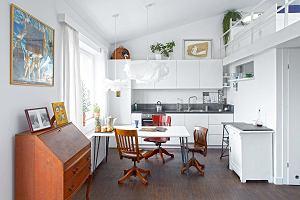 Jasne mieszkanie z antresolą dla architektki