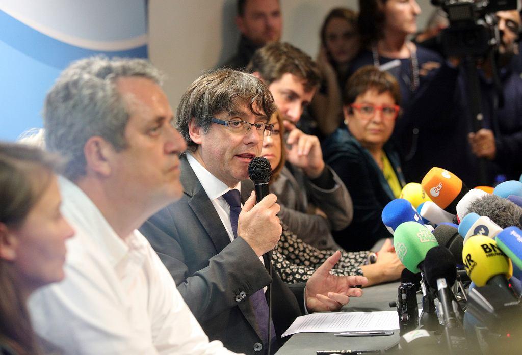 Carles Puigdemont w Brukseli