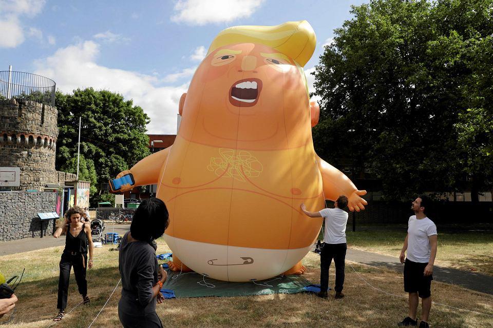 10.07.2018, Londyn, balon przypominający Donalda Trumpa.